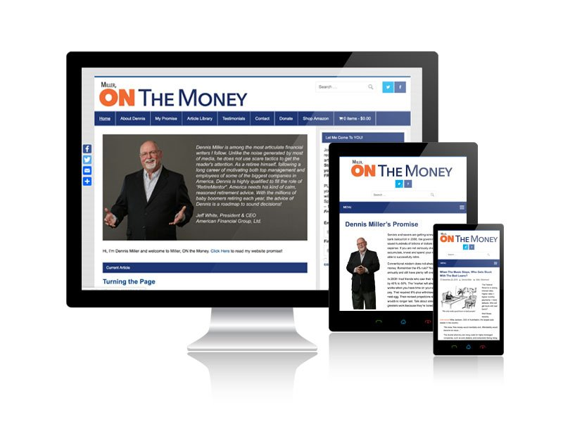 Miller ON the Money Blog and E-Commerce Website - Wordpress